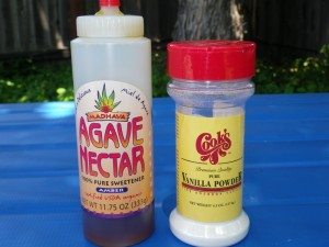 Agave Nectar and Pure Vanilla Powder